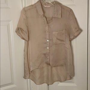 Miss Selfridge button down high low blouse sz UK10